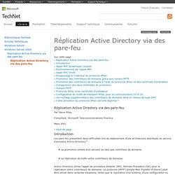 Réplication Active Directory via des pare-feu