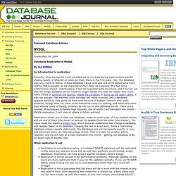 Replicacion de bases de datos Mysql