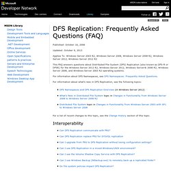 DFS Replication: Frequently Asked Questions (FAQ)