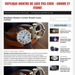 Replique Montre Cartier Ronde Louis Cartier