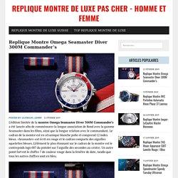 Replique Montre Omega Seamaster Diver 300M Commander's