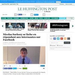 Nicolas Sarkozy se lâche en répondant aux internautes sur Facebook