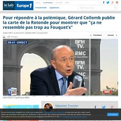 """Pour répondre à la polémique, Gérard Collomb publie la carte de la Rotonde pour montrer que """"ça ne ressemble pas trop au Fouquet's"""""""