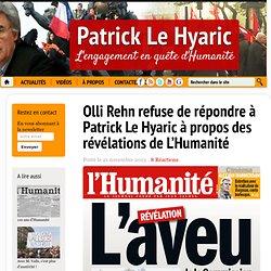 Olli Rehn refuse de répondre à Patrick Le Hyaric à propos des révélations de L'Humanité