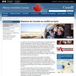 Réponse du Canada au conflit en Syrie