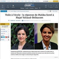 Voile à l'école : la réponse de Malika Sorel à Najat Vallaud-Belkacem