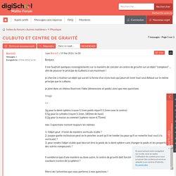 Culbuto et centre de gravité [6 réponses] : ⚛ Physique - 155786 - Forum de Mathématiques: Maths-Forum
