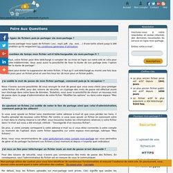 Les réponses aux questions fréquentes concernant le service de partage et envoi des fichiers