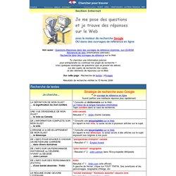 Réponses à des questions de recherche sur le Web