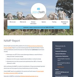 ANIMALHEALTHAUSTRALIA - 2016 - National Arbovirus Monitoring Program. Annual report.