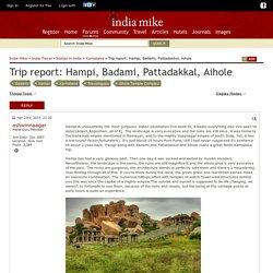 carnet voyage: Hampi, Badami, Pattadakkal, Aihole