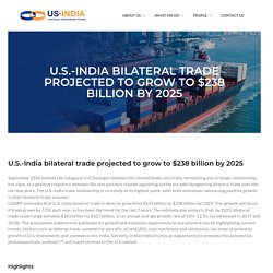 Report on India US Bilateral Trade Projections - USISPF