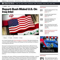 Report: Bush Misled U.S. On Iraq Intel
