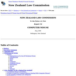 NZLC - Report 54: Computer Misuse - Title Page
