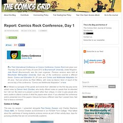 Report: Comics Rock Conference, Day 1 | The Comics Grid: Journal of Comics Scholarship | Peter Wilkins
