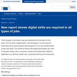 New report shows digital skills are required in all types of jobs