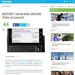 Verizon Droid Sells 100,000 Units At Launch