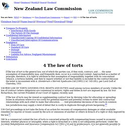NZLC - Report 50: Electronic Commerce - Part One - 4 The law of torts