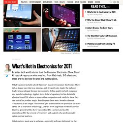 Report From CES: What's Hot In Electronics For 2011