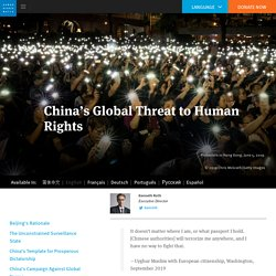 World Report 2020: China's Global Threat to Human Rights