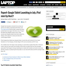 Report: Google Tablet Launching in July, iPad mini Up Next?