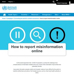 How to report misinformation online