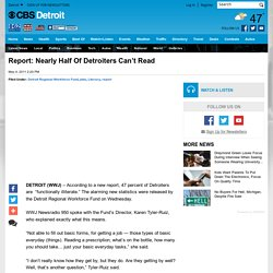 Report: Nearly Half Of Detroiters Can't Read