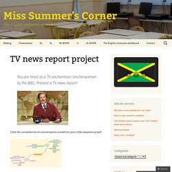 TV news report project