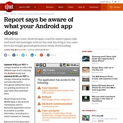be aware of what your Android app does | InSecurity