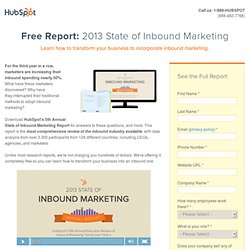 Download The State of Inbound Marketing in 2012