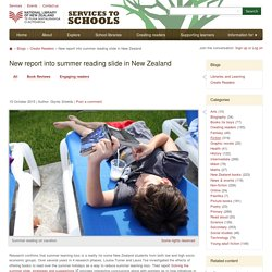 NZ report into summer reading