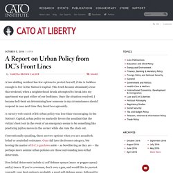 A Report on Urban Policy from DC's Front Lines
