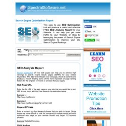 SEO Report Online FREE Website Search Engine Optimization Test Report