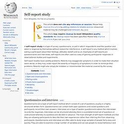 Self-report study