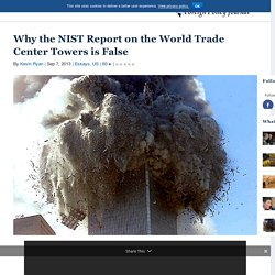 Why the NIST Report on the World Trade Center Towers is False