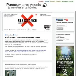 vidéos d'art, reportage video artistes