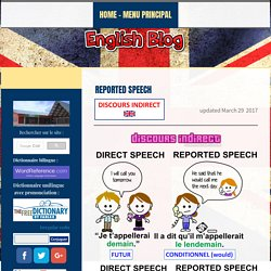 REPORTED SPEECH - Teacher Letang