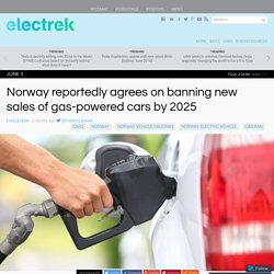 Norway Bans New Sales of Gas-Powered Cars