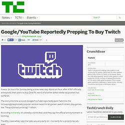 Google/YouTube Reportedly Prepping To Buy Twitch