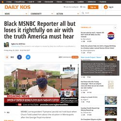 Black MSNBC Reporter all but loses it rightfully on air with the truth America must hear