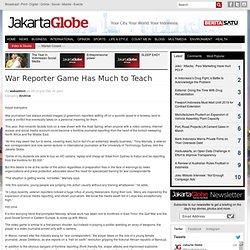 Jeu Rapporteur de guerre a beaucoup à apprendre