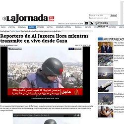 Reportero de Al Jazeera llora mientras transmite en vivo desde Gaza