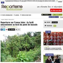 sur France Inter: la forêt amazonienne au bord du point de bascule
