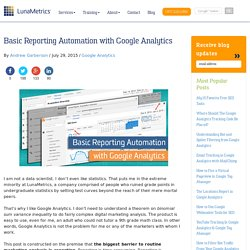 Basic Reporting Automation with Google Analytics