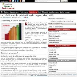 Le Reporting expliqué, rapports d'activité