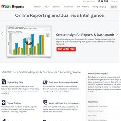 Online Reporting and Business Intelligence Service: Zoho Reports
