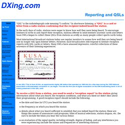 Reporting and QSLs