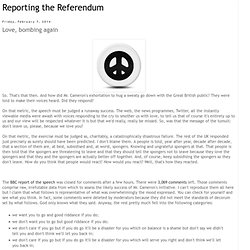Reporting the Referendum: Love, bombing again