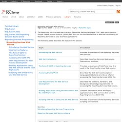 Reporting Services Web Service
