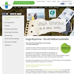 Unga Reportrar - för ett hållbart samhälle